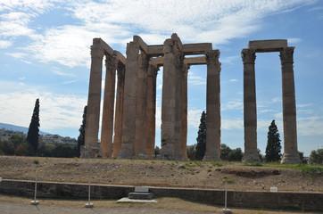 greece ancient ruins temple of zeus athens column
