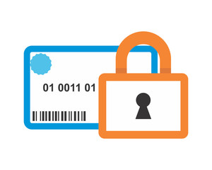 credit card padlock business company office corporate image vector icon logo