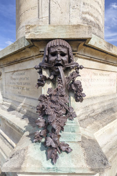 STRATFORD-UPON-AVON, UNITED KINGDOM - AUGUST 24: Beautiful metal sculpture on the Gower Memorial in Straford-upon-Avon, United Kingdom on August 24, 2016.
