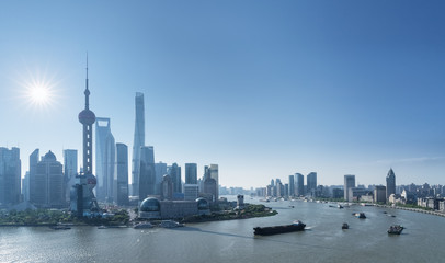 Wall Mural - shanghai cityscape in morning