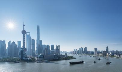 Fotobehang - shanghai cityscape in morning