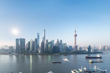Fotobehang - shanghai pudong skyline in morning