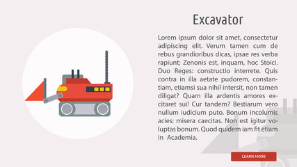 Excavator Conceptual banner