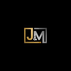 Letter JM Square Creative Business Logo