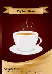 Coffee  Menu cover Template in A4 size