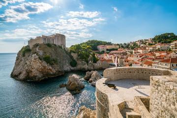 Fort Lovrijenac and wall of Dubrovnik, Croatia.