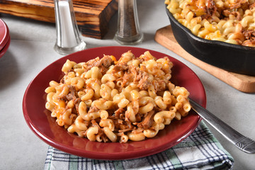BBQ Beef Macaroni and Cheese