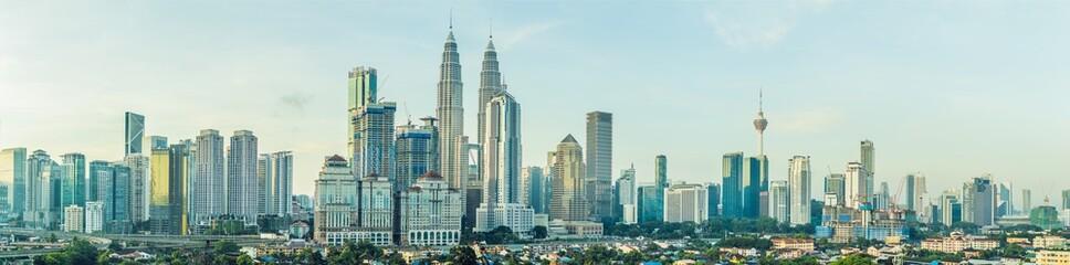 Fotobehang Kuala Lumpur Panorama of Kuala Lumpur in the morning