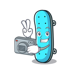 Photographer skateboard mascot cartoon style