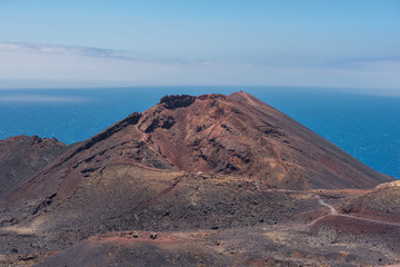Teneguia volcano in La Palma island, Canary islands, Spain.