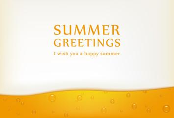 ビールの暑中見舞いテンプレート