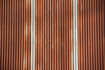 old galvanized iron become rusty, texture and background concept