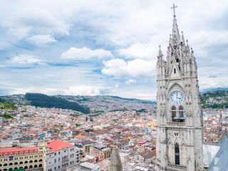 Foto op Canvas Zuid-Amerika land Quito in Ecuador from Basilica del Voto Nacional
