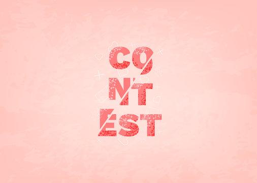 Contest card. Vector illustration.