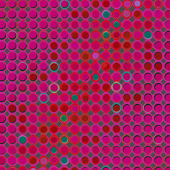 Retro Pop Art Circle Design with Vivid Pink Purple and Green Dot Design - High resolution illustration, suitable for graphic element or background use.