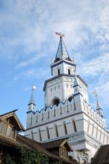 Kremlin in Izmailovo, Moscow. Popular landmark. Color photo.