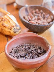Chocolat, cacao et cabosse