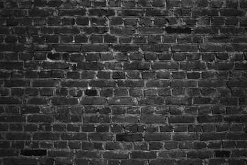 dark black old brick wall