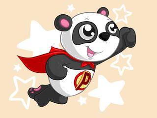 Superhelden Panda