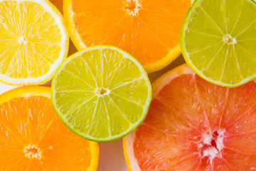 assorted sliced colourful citrus fruits