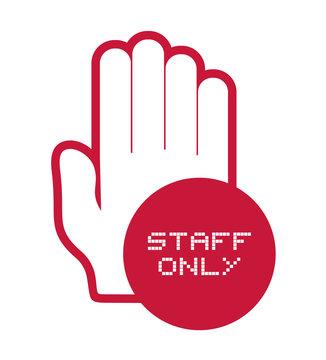 staff only symbol