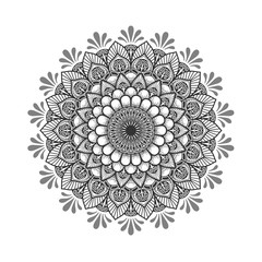 Round flower.Ornament of flowers .Indian pattern