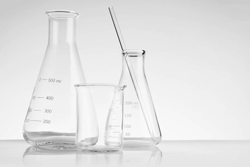 Laboratory glassware instruments empty equipment for chemical lab