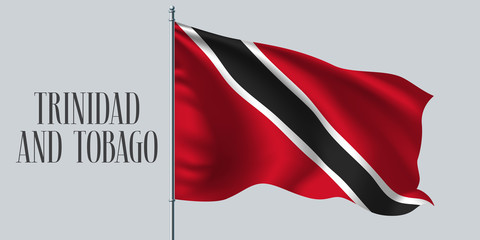 Trinidad and tobago flag vector illustration