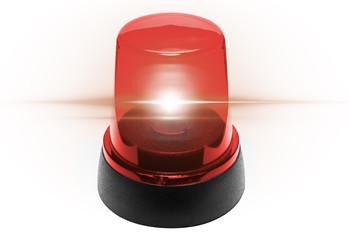 Rotlicht Feuerwehr leuchtend