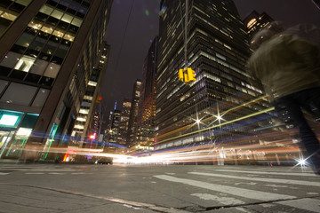 New York City. luci nella notte