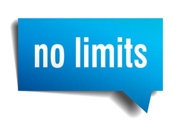 no limits blue 3d speech bubble