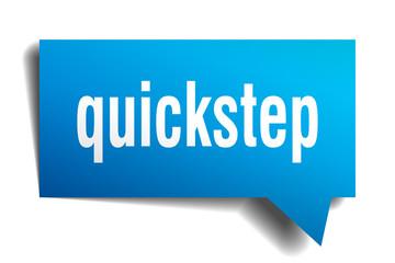 quickstep blue 3d speech bubble