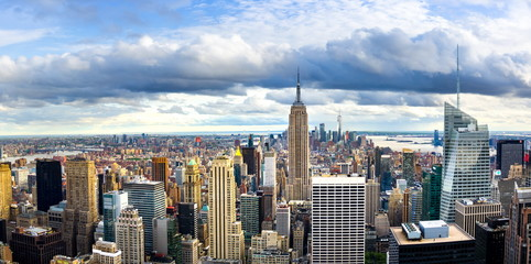 New york skyline and Manhattan panoramic view