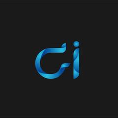 Initial Letter CI Logo Vector Design