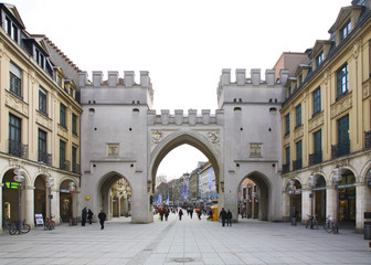 Karlstor gate (Neuhauser Tor) in Munich. Germany
