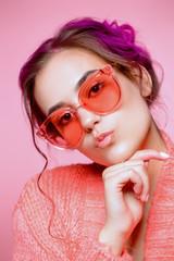 big rose-colored glasses