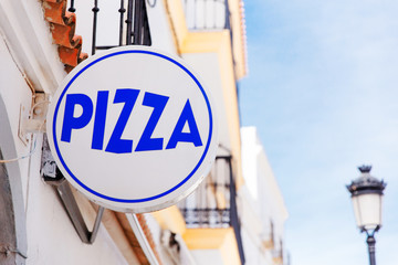 """Signboard with the inscription """"Pizza"""""""