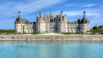 Chambord castle (chateau) in Loire valley, France