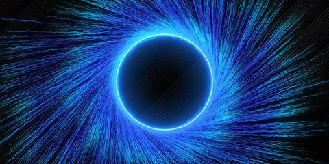 Creative blue vortex background