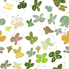 Seamless abstract butterfly illustrations background. Concept, line, wild & template.