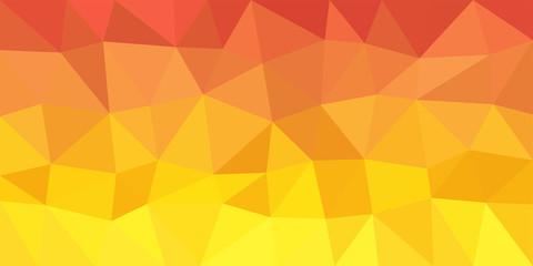 Yellow Orange Low Poly Vector Background