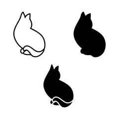 Logo in the style of minimalism cat