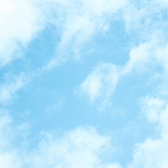 blue sky with cloud background beauty clear bright summer white nature landscape blur light