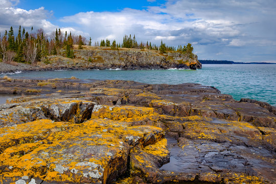Tee Harbour on the North shore of Lake Superior. Sleeping Giant Provincial Park near Thunder Bay, Ontario, Canada