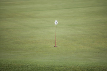 pennant in golf hole