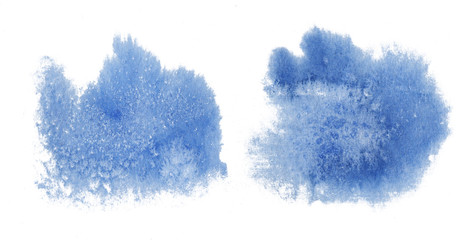 Blue watercolor pattern background