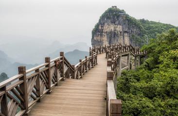 The Cliff  Hanging Walkway at Tianmen Mountain, The Heaven's Gate at Zhangjiagie, Hunan Province, China, Asia Fototapete