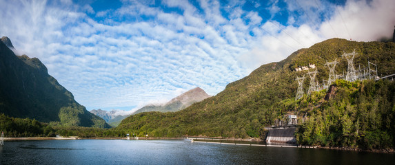 Hydro-Electrical Power Plant - Lake Manapouri, New Zealand.