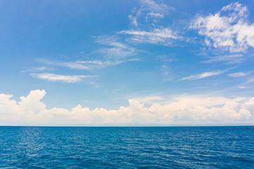 Idyllic perfect blue sky seascape with cloud