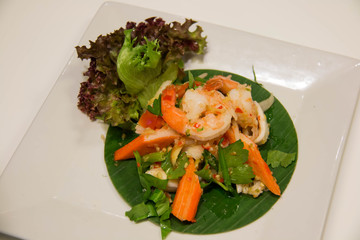Photo of Thai spicy seafood salad